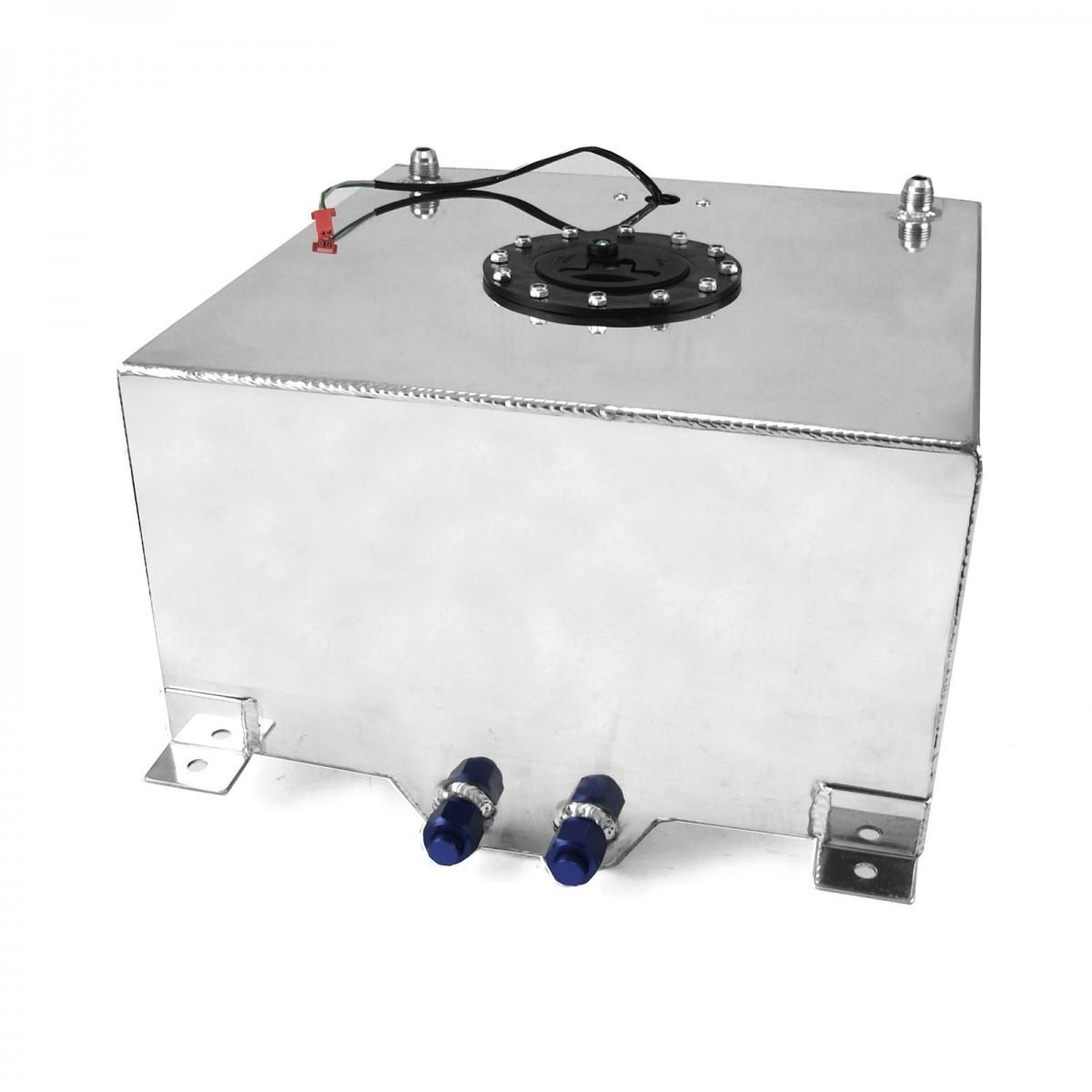 10 Gallon Lightweight Polished Aluminium Fuel Cell W Sender