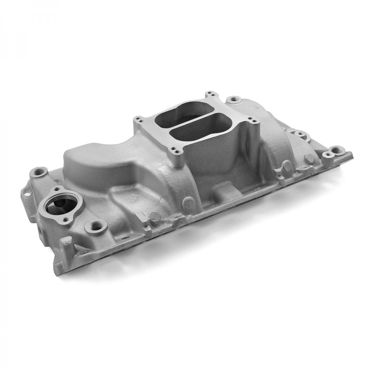 Chevy BBC 454 Holeshot Oval Port Intake Manifold Satin