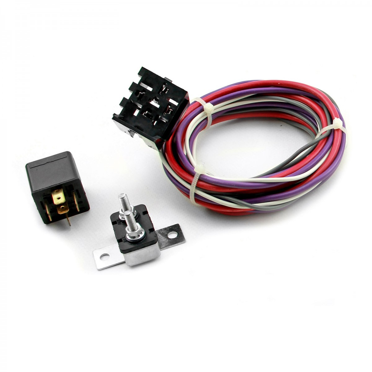 Wiring Harness Making Supplies : Electric fan wiring harness kit w relay