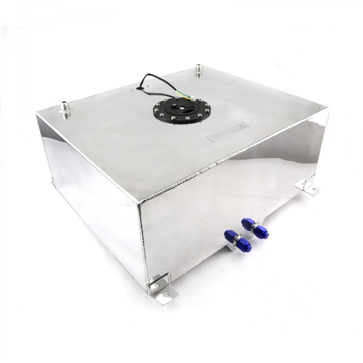 20 Gallon Lightweight Polished Aluminium Fuel Cell W Sender