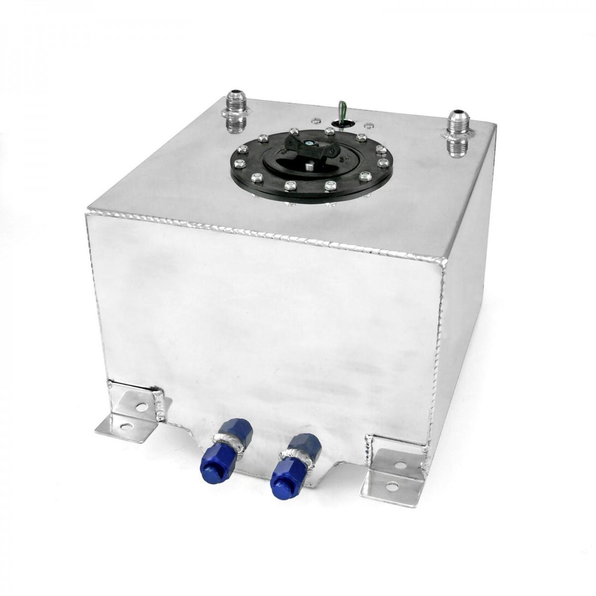 5 Gallon Lightweight Polished Aluminium Fuel Cell W Sender