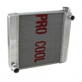 Ford Mopar 26x19x2.2 Aluminum Radiator (TR-BL O/Lets) Polished
