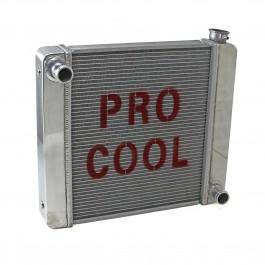Universal 22x19x2.2Ford Mopar GM Aluminum Radiator (TL-BR & TR-BL) Polished