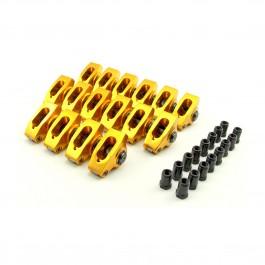 Chevy SBC 283  305  327  350  400  1.5 Ratio 3/8  Aluminum Roller Rocker Arm Set  W/Posi Locks COLOR MAY VARY