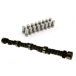 SBC Chevy CAM KIT  INC. CHEVY 350 NEW RV .443/.465  214/224 Hydraulic Flat Tappet Camshaft ES1013R AND 16-l817-16 HYDRAULIC LIFTERS