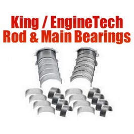 KING / ENGINETECH BEARING KIT - Chevy 350 Small block Large Journal Rod & Main Bearing Kit