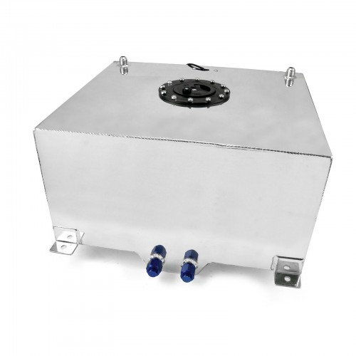 15 Gallon Lightweight Polished Aluminium Fuel Cell W