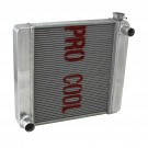 Ford Mopar 26x19x2.2 Aluminum Radiator (TR-BL O/Lets) Polished