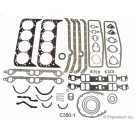 EngineTech - C350-1 Full Gasket Set 1967-1985 Small block Chevy 350 2pc Rear Main Seal