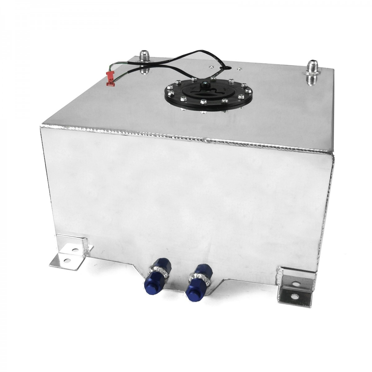 10 Gallon Lightweight Polished Aluminium Fuel Cell W Sender