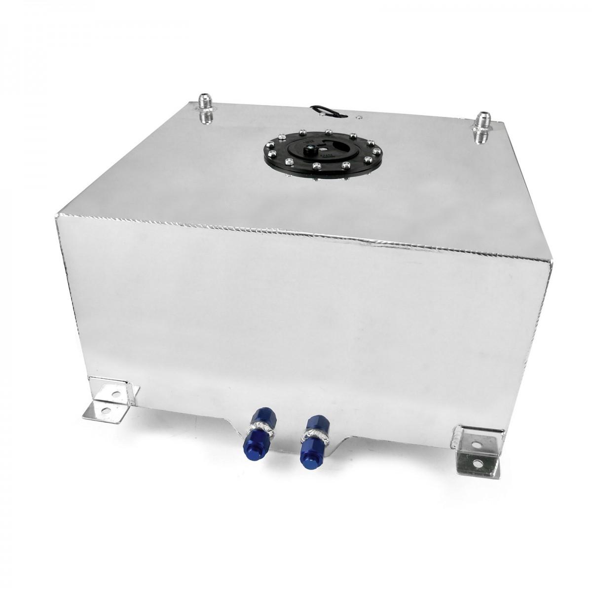 15 Gallon Lightweight Polished Aluminium Fuel Cell W