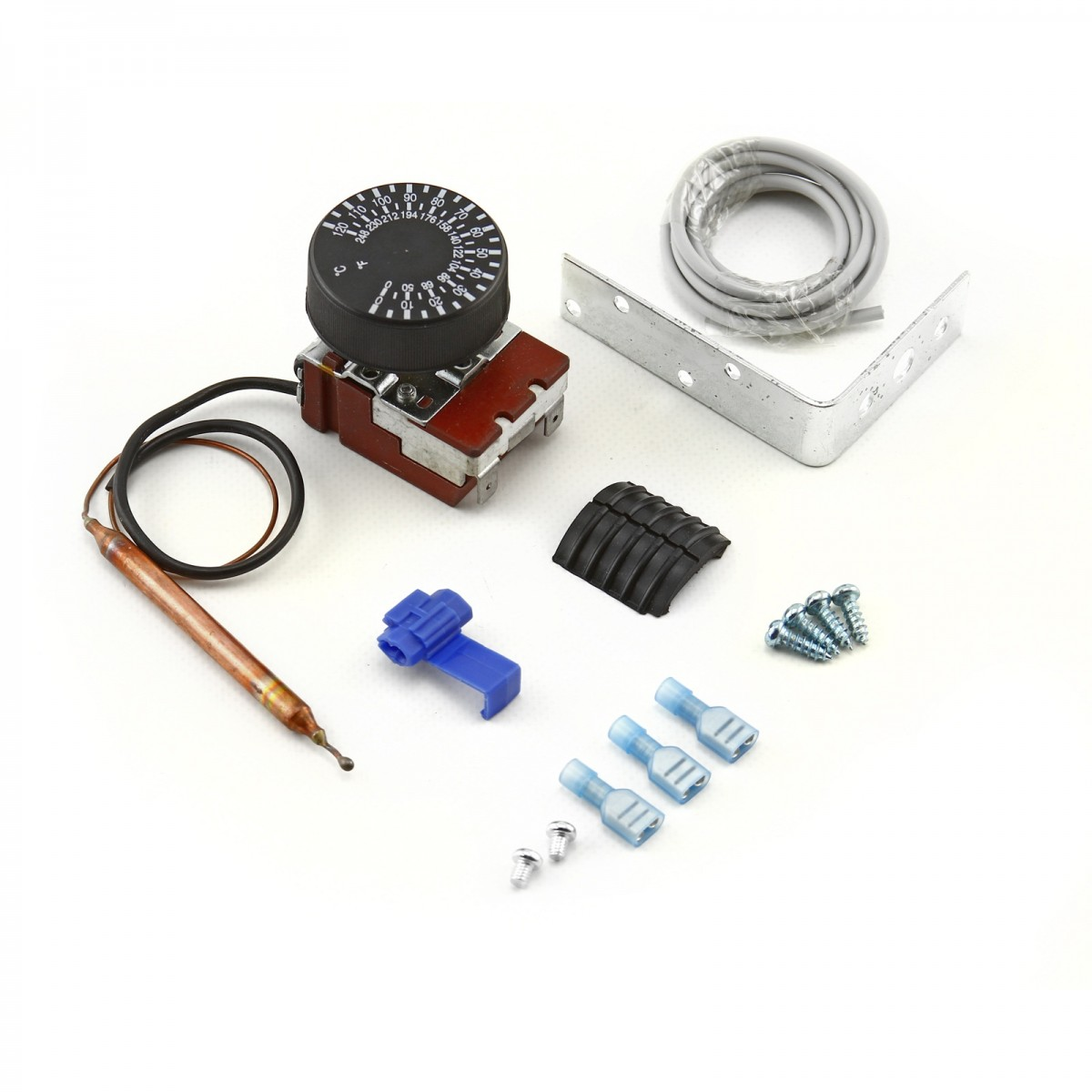 Universal 12v 0 120c Deg Adjustable Electric Thermo Fan Switch Kit Ford Wiring Harness