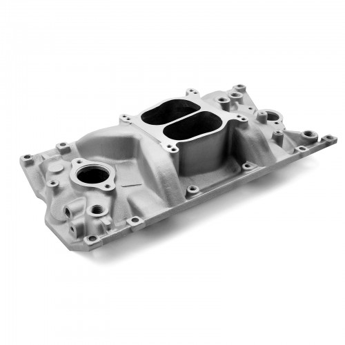 Chevy SBC 350 Holeshot Vortec Intake Manifold Satin