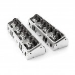 Chevy 350/327 64cc 190cc ANGLE PLUG  Aluminum Cylinder Heads  2.05 INTAKE 1.60 EXHAUST STAINLESS VALVES