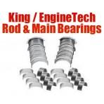 KING / ENGINETECH BEARING KIT - Chevy 350 Small block Large Journal Rod & Main Bearing Kit